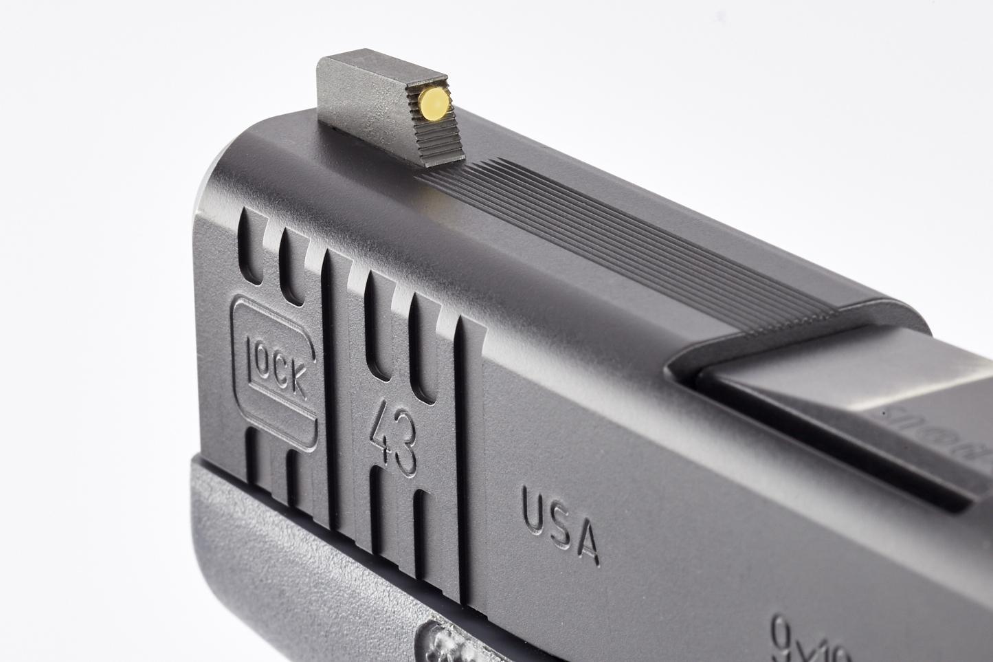 Vickers Elite Sight Set for Glock 42/43 | Black Rear | Gold