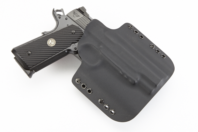 Kydex Carry Holster | Full-Size 1911 with Rail | RH | Black