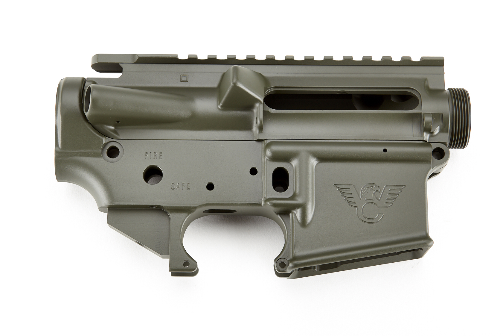 Upper/Lower Receiver | AR-Style | Matched Set | O D  Green
