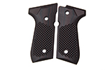 Beretta 92/96 G10 Grips, Golfball Pattern, Black Cherry