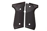 Wilson Combat G10 Grips, Tactical Slants Pattern, Black Cherry | Beretta 92/96