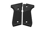 Wilson Combat G10 Grips, Golfball Pattern, Black | Beretta 92/96