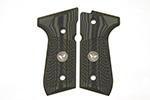 Wilson Combat G10 Grips, Tactical Slants Pattern with WC Logo, Dirty Olive | Beretta 92/96