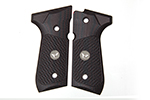Wilson Combat G10 Grips, Tactical Slants Pattern with WC Logo, Black Cherry | Beretta 92/96