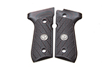 Beretta 92/96 G10 Grips, Checkered with WC Logo, Black Cherry