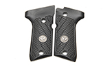 Beretta 92/96 Compact G10 Grips, Checkered with WC Logo, Black
