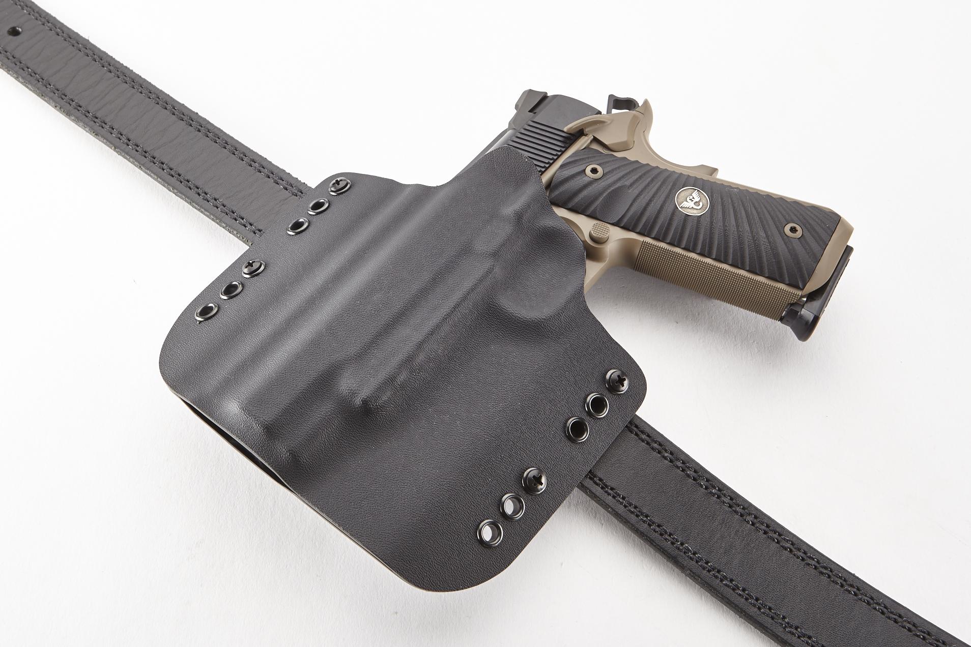 1911 full rail holster - Belgian Malinois K9 Leather Gun Holster