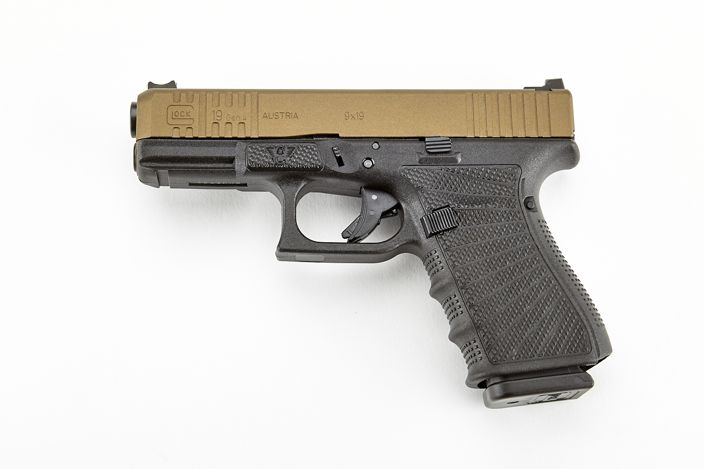 Glock 19 GEN 4, 9mm, Burnt Bronze/Black