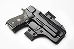 Blade-Tech - Wilson 92G Brigadier Tactical, Ambidextrous, Eclipse Holster, 1.5 Belt, Black Molded Kydex