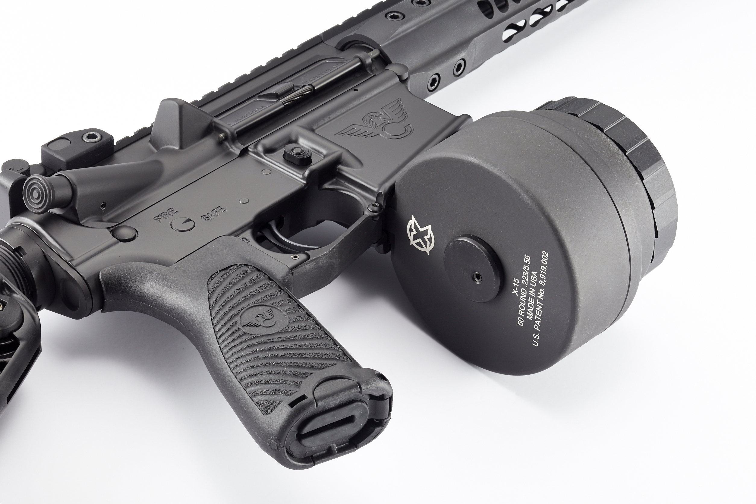 XProducts, X-15 50 Round Drum Magazine for AR15 & M16, Black-http ...