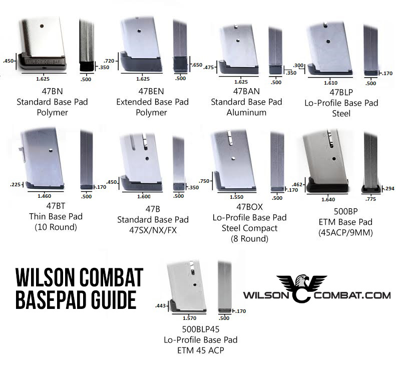 Wilson Combat 1911 Magazine | 8 Round  45 ACP | Full-Size-https